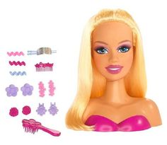 Styling Head >>> For more information, visit image link. Barbie Styling Head, American Girl Furniture, Barbie Makeup, Princess Adventure, Barbie Dolls, Play Barbie, Barbie Accessories, Great Hair, Trendy Hairstyles
