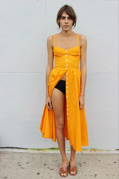 Maryam Nassir Zadeh Orange Dress