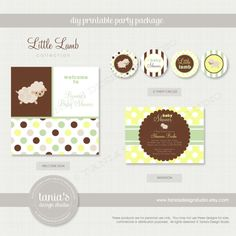 Little Lamb Shower Printable Baby Shower by taniasdesignstudio, $35.00