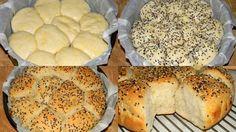 Rozsos-joghurtos kenyér, fokhagymás vajjal