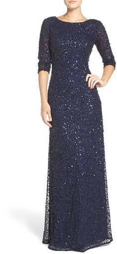 Women's Adrianna Papell Sequin Mesh Gown