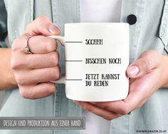 Becher & Tassen - Tasse | Morgenmuffel - ein Designerstück von Dr_Grazer_und_Co bei DaWanda Etsy, Engagement Rings, Jewelry, Tumbler Cups, Simple Gifts, Jewellery Making, Wedding Rings, Commitment Rings, Jewerly