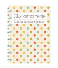 Glücksmomente - Das Dankbarkeitstagebuch (Konfetti) Ringbuch A5 | 14,8 x 21 cm | 112 Seiten | Papier: weiß 120g