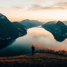 Cherish moments alone. They can be the most meaningful. From Lago di Lugano by @marub0.  #visitswitzerland by visitswitzerland