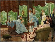 In the Conservatory  James Tissot  (French, Nantes 1836–1902 Chenecey-Buillon)
