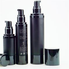 15ml 30ml 50ml 80ml 100ml Matte Black Airless Pump Bottle Aluminium Plastic Bottles For Cosmetic Packaging - Buy Airless Pump Bottle,Airless Pump Bottle 100ml,Black Airless Bottle Product on Alibaba.com Packaging Manufacturers, Skin Care Cream, Cosmetic Packaging, Plastic Bottles, Matte Black, Lotion, Eyeliner, Pumps, Personal Care