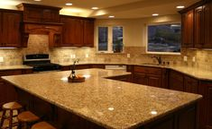 Porcelain Tile Plank Floors With Cherry Cabinets Been