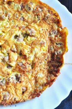 Rumbling Tummy: Omelette with Pork 煎蛋猪肉