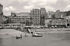 Slipway and Yacht Club, Durban Bay 1962 Durban South Africa, Kwazulu Natal, Sun City, Pretoria, Once In A Lifetime, Yacht Club, African History, Historical Society, Landscape Photography