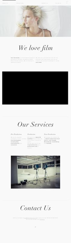 One Page Site    Interactive Design