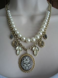 "LIA SOPHIA 'SOUTHERN BELLE' NECKLACE 16-20"" - 2 DETACHABLE NECKLACES W/ GENUIS C #LiaSophia #Statement"