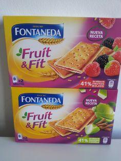 Barrita Fruit & Fit rellena de Frutos Rojos o de Manzana Fontaneda (Supersol) - 1 barrita 1 punto.