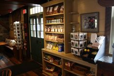 Visit the old-fashioned general store to browse the many local products - from candles to marmalade - that line the neatly arranged shelves.