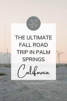 Everything to add to your Palm Springs California bucket list.