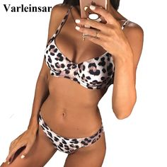 fec7e2fd24d6 US $10.18 23% OFF|Aliexpress.com : Buy New Sexy Leopard 2019 Bikini Women  Swimwear Female Swimsuit Two pieces Bikini set Underwire Bather Bathing  Suit Swim ...