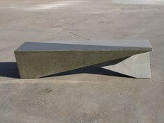 Public bench / original design / engineered stone YING YANG by Francisco Javier Rodriguez Escofet