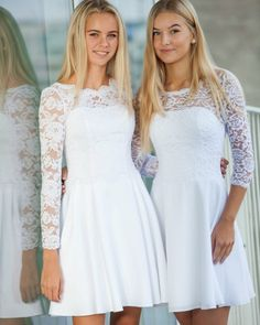 Konfirmationskjoler 2018 - Brudedesign-konfirmationskjoler Confirmation Dresses White, White Baptism Dress, Girls Baptism Dress, Girls White Dress, Little White Dresses, Dresses For Teens, Casual Dresses For Women, Girls Dresses, Flower Girl Dresses