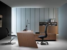 Awesome Cool Contemporary Home Office Design Idea With Charming Wooden Desk