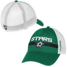 1f28fb6c347 Mens Dallas Stars Reebok Green Center Ice Player Flex Hat