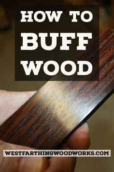 How to buff wood to a high gloss without applying any finish, and you can handle the piece in seconds rather than in hours. This is an easy process and I wish I got into buffing wood long before I finally did. Happy building.