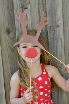 Reindeer Christmas Photo Props - Automatic Download