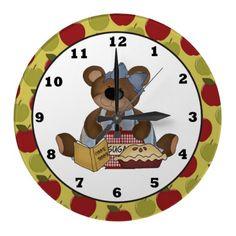 Apple Pie Bear wall clock