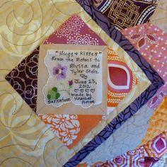 Hankie quilt label photo by Heather Acton, Flickr.com