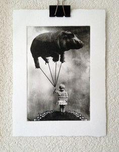 Hoi! Ik heb een geweldige listing op Etsy gevonden: https://www.etsy.com/nl/listing/174197274/het-meisje-en-de-ballon-originele-zwart