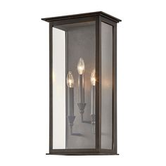 Chauncey Outdoor Wall Sconce by Troy Lighting - Color: Bronze - Finish: Vintage Bronze - Outdoor Wall Sconce, Outdoor Wall Lighting, Exterior Lighting, Outdoor Walls, Wall Sconce Lighting, Bronze Wall Sconce, Candle Sconces, Wall Sconces, Candelabra Bulbs