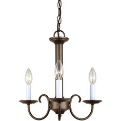 Sea Gull Lighting Holman 3-light Bell Metal Bronze Single-tier Chandelier - Overstock™ Shopping - Great Deals on Sea Gull Lighting Chandeliers & Pendants