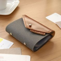 GOODJOB Hybrid Card Holder #accessories #lifestyle #stationery #product #design #recycled leather #leather  www.goodjobstore.com Facebook.com/