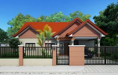 Design Of House Front View . Design Of House Front View . Front View Of House, House Front Design, Small House Design, Roof Design, Modern House Design, Gate Design, Bed Design, Bungalow House Plans, Bungalow House Design
