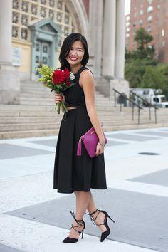 GiGi New York I Skirt The Rules Fashion Blog I Magenta All In One Clutch