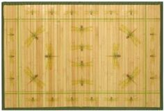 Amazon.com: Laser Printed Split Bamboo Dragonfly 3 x 5 Veranda Rug: Home & Kitchen