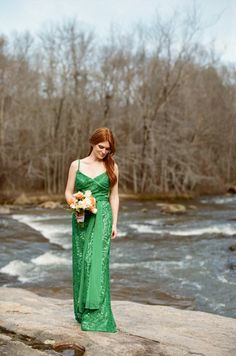 Emerald Bridesmaid Dress | photography by http://www.oliviagriffin.com/
