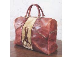 SAC Voyage French Leather Duffle Stirrup Travel Doctor Gladstone KIT BAG Holdall | eBay