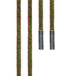 Ole Lynggaard Copenhagen Green/Red Wine Chenille Mokuba silk string with silver ends length 130 cm - Kennedy Jewellers
