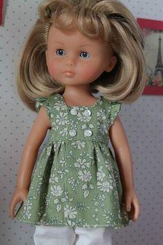 Chéries N°13- blouse à encolure carrée sans manches - Ma p'tite école de…