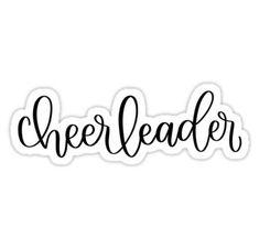 """""""Cheerleader"""" Stickers by Delaney Pierce Bubble Stickers, Phone Stickers, Bumper Stickers, Printable Stickers, Custom Stickers, Cheer Flyer, Gifts For Teens, Teen Gifts, Homemade Stickers"""