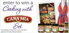 Cara Mia is doing a sweepstakes for a Cooking with Cara Mia Set. Click Here to enter This set includes a Cara Mia recipe booklet, beautiful apron, Cara Mia Grilled Artichokes, Artichokes in Water, ...