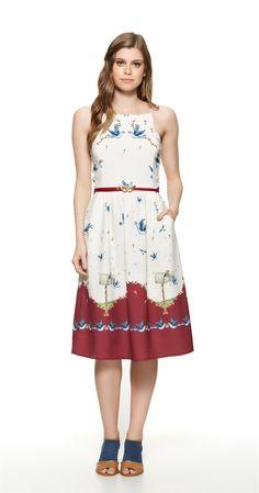 Só na Antix Store você encontra Vestido Midi Pássaro Correio com exclusividade na internet