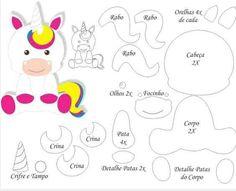 Felt Crafts Diy, Felt Diy, Easter Crafts, Felt Patterns, Stuffed Toys Patterns, Disney Felt Ornaments, Lantern Craft, Wood Peg Dolls, Unicorn Printables