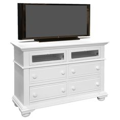 American Woodcrafters Cottage Traditions 4 Drawer Media Dresser & Reviews | Wayfair