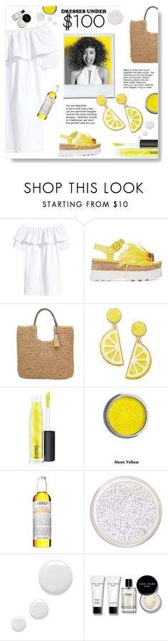 """Summer dress"" by gul07 ❤ liked on Polyvore featuring Paul Mitchell, Miu Miu, John Lewis, Celebrate Shop, MAC Cosmetics, Kiehl's, Topshop, Bobbi Brown Cosmetics and under100"