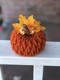Crochet Pumpkin Pattern, Crochet Patterns, Crochet Fall, Fall Deco, In The Heights, Crochet Earrings, Make It Yourself, Texture, Thanksgiving