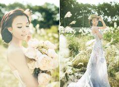 Romantic bridal portrait