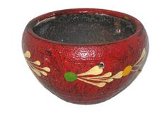 Vintage Mexican Pottery, Planter, Hanging Pot, Vintage Planter, Hand Painted Pottery, Mexican Pot, Pottery Planter, Pottery Vase, Home Decor by VintageCastaways on Etsy