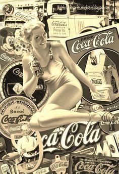 MALETA DE RECORTES: Pin up Otoño - Pin up Coca-Cola - Pin up Cocinera (Collages)