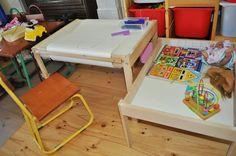 Change table into 2 useful tables for growing kids - IKEA Hackers - IKEA Hackers
