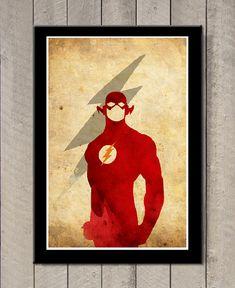 Minimalist Superheroes Poster Flash por MINIMALISTPRINTS en Etsy